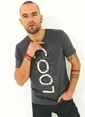 People By Fabrika Baskılı T-Shirt Antrasit